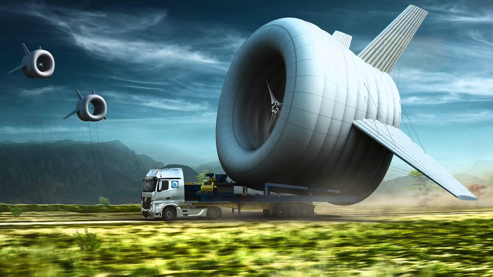 Flying Wind Turbines
